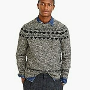 J.Crew Italian Wool Fair Isle Sweater